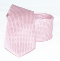 Goldenland slim nyakkendő - Rózsaszín aprómintás
