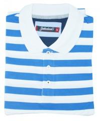 Goldenland rövidujjú piké poló - Kék-fehér Pólók