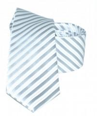 Goldenland slim nyakkendő - Ezüst csíkos Csíkos nyakkendő