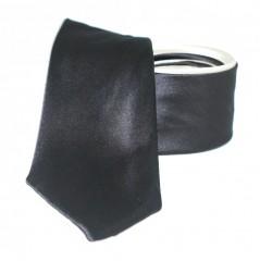 Goldenland 2in1 slim nyakkendő - Sötétbarna-Ecru Egyszínű nyakkendők