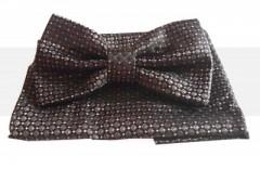 Goldenland csokornyakkendő szett - Sötétbarna pöttyös