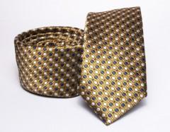Prémium slim nyakkendő - Óarany mintás Aprómintás nyakkendő