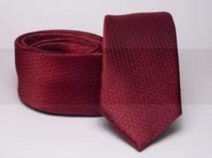 Prémium slim nyakkendő - Meggybordó Aprómintás nyakkendő