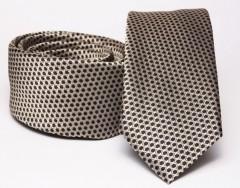Prémium slim nyakkendő - Arany mintás Aprómintás nyakkendő