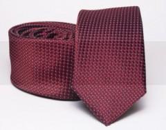 Prémium slim nyakkendő - Bordó mintás Aprómintás nyakkendő