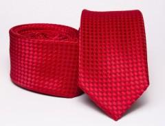 Prémium slim nyakkendő - Piros Aprómintás nyakkendő