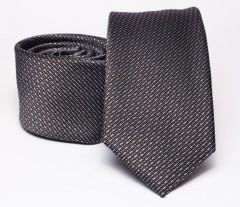 Prémium slim nyakkendő - Barnásszürke Aprómintás nyakkendő