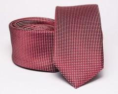 Prémium slim nyakkendő - Bordó aprópöttyös Aprómintás nyakkendő