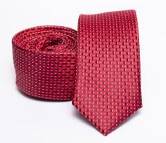 Prémium slim nyakkendő - Piros mintás Aprómintás nyakkendő