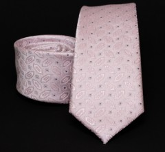Prémium slim nyakkendő - Rózsaszín mintás Mintás nyakkendők