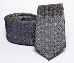 Prémium slim nyakkendő - Szürke mintás Mintás nyakkendők