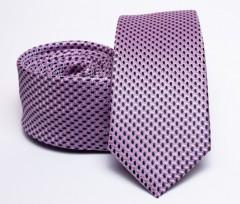 Prémium slim nyakkendő - Lila mintás Aprómintás nyakkendő