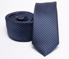 Prémium slim nyakkendő - Sötétkék mintás Aprómintás nyakkendő