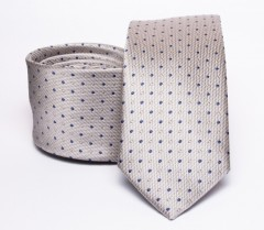 Prémium slim nyakkendő - Natur pöttyös Aprómintás nyakkendő