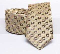 Prémium slim nyakkendő - Arany kockás Kockás nyakkendők