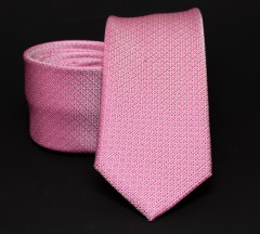 Prémium slim nyakkendő - Rózsaszín aprómintás Aprómintás nyakkendő