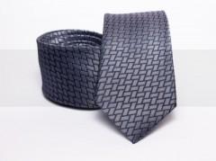 Prémium selyem nyakkendő - Szürke kockás Selyem nyakkendők