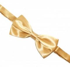 Zsorzsett szatén csokornyakkendő - Arany