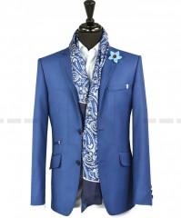 Carlo Benetti Gyapjú zakó - Kék Férfi kabát, zakó