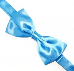 Szatén csokornyakkendő - Türkízkék