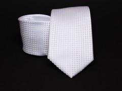 Prémium nyakkendő -  Fehér kockás