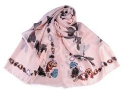 Szatén sál szitakötő - Rózsaszín