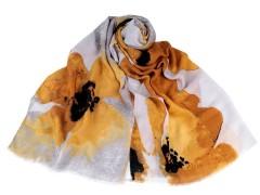 Nagy virágos sál - Sárga