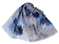 Nagy virágos sál - Kék