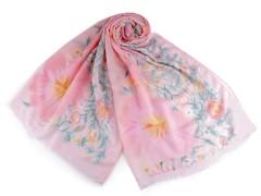 Virágos sál - Rózsaszín