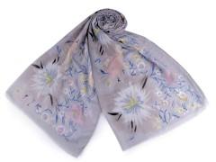 Virágos sál - Szürkéskék