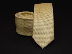 Prémium selyem slim nyakkendő - Sárga Selyem nyakkendők