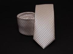 Prémium selyem slim nyakkendő - Drapp Selyem nyakkendők