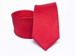 Prémium selyem slim nyakkendő - Piros Selyem nyakkendők