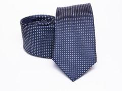 Prémium selyem slim nyakkendő - Kék aprópöttyös Selyem nyakkendők