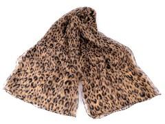 Sál leopárd, mű selyem - Bézs