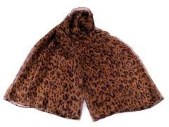 Sál leopárd, mű selyem - Barna