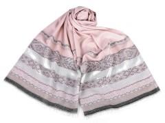 Sál lurexszel - Rózsaszín