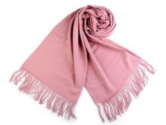 Pashmina típusú sál rojtokkal - Rózsaszín