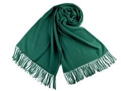 Pashmina típusú sál rojtokkal - Zöld
