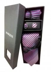 Marquis nyakkendő szett - Lila mintás Nyakkendők