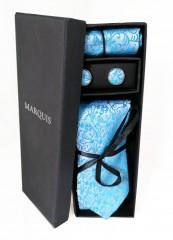 Marquis nyakkendő szett - Türkíz mintás Mintás nyakkendők