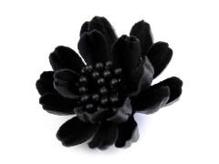 Textil virág - Fekete