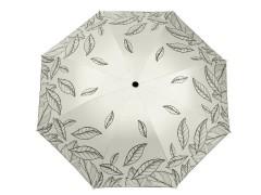 Női összecsukhatós esernyő levél mintás - Drapp