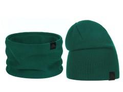 Téli sapka és nyakmelegítő szett - Zöld