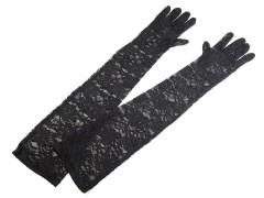 Hosszú csipke kesztű - Fekete
