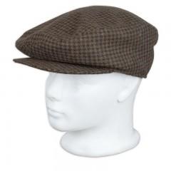 Férfi Mici sapka - Barna kockás Férfi kalap, sapka