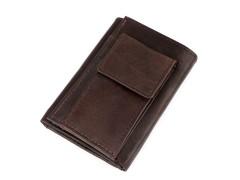 Férfi bőrpénztárca kulcstartóval - Barna Férfi táska, pénztárca
