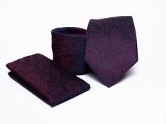 Prémium nyakkendő szett - Lila mintás Mintás nyakkendők