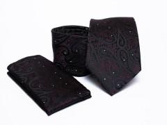 Prémium nyakkendő szett - Fekete mintás Mintás nyakkendők