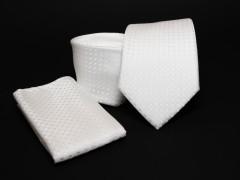 Prémium nyakkendő szett - Fehér mintás